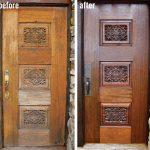 refinish front door before after front door refinishing flower motive wooden front door