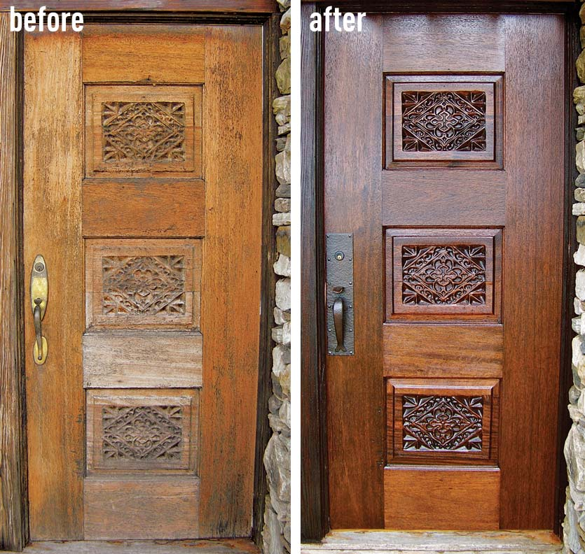 Step By Step To Do It Yourself Refinish Front Door Homesfeed