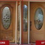 refinish front door before after front door refinishing workshop classic chic wooden glass front door