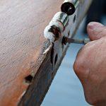 refinish front door removing front door hardware