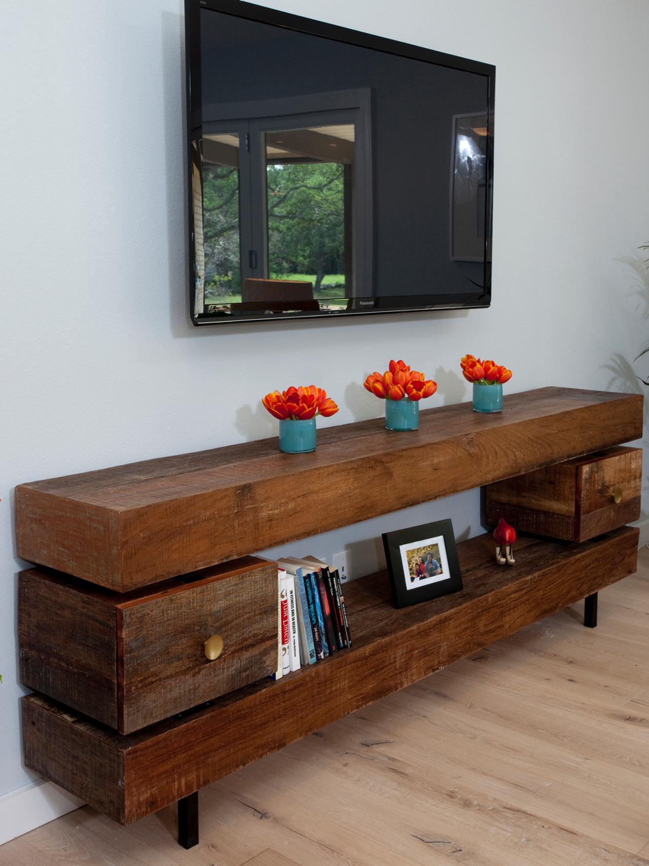 Design For Living Room Tv Cabinet: Long Media Cabinet For Your Living Room