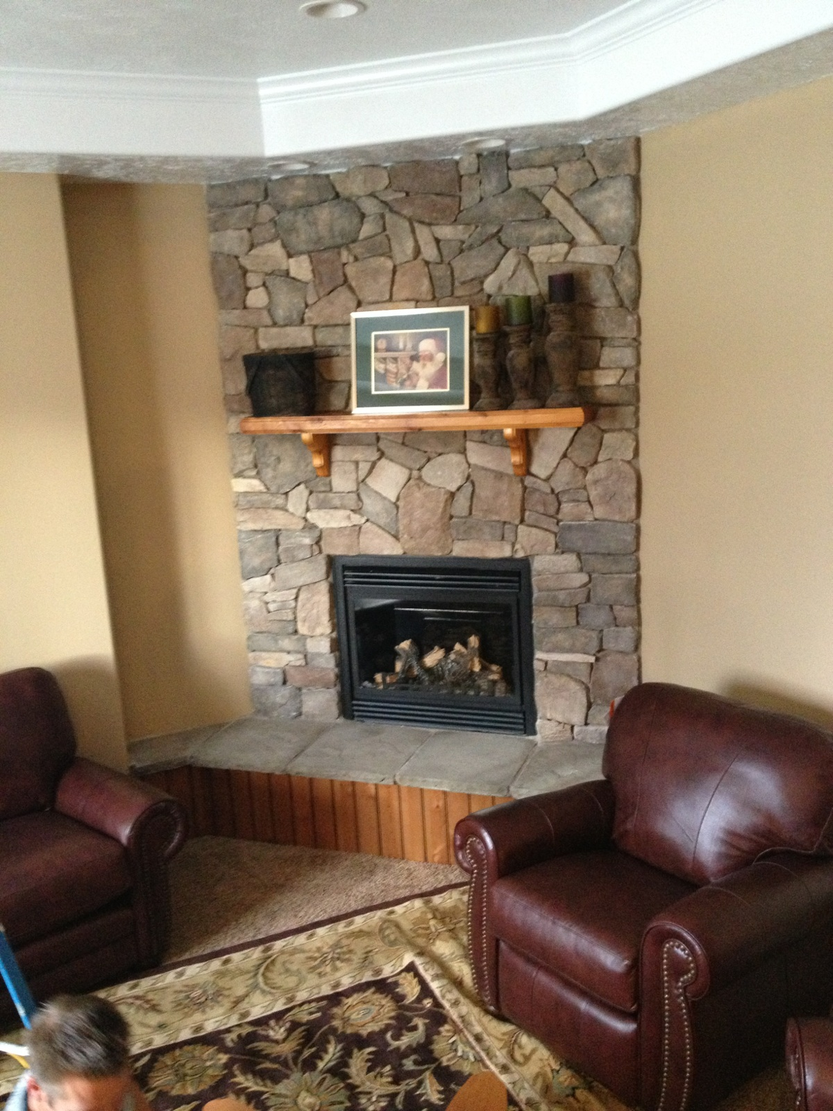 Corner Fireplace Ideas In Stone family living room stone fireplace ideas | homesfeed