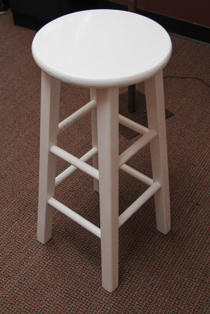 Wooden Bar Stools ~ White wood bar stools providing enjoyment in your kitchen