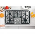 silver black five burners 30 gas cooktop with downdraft silver knobs fresh orange juice plates and folks eggs