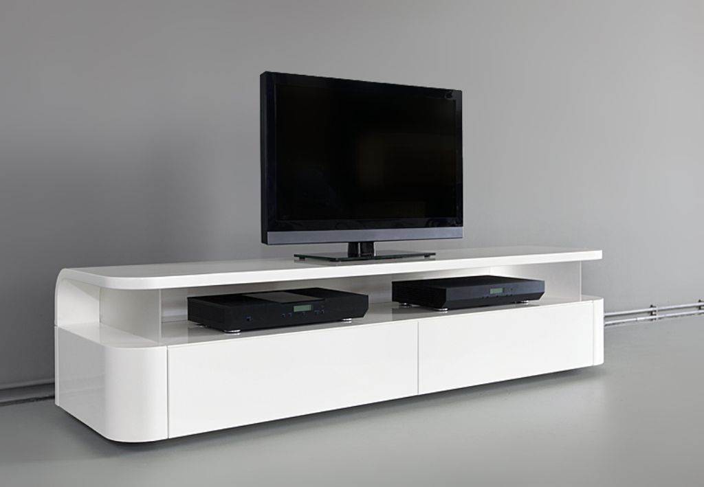 Ikea white tv stand sweet couple for minimalism homesfeed for Ikea meuble mural besta