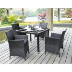 simple black affordbale modern outdoor furniture black wicker chairs and glass top by wayfair wicker table wooden floor beautiful garden