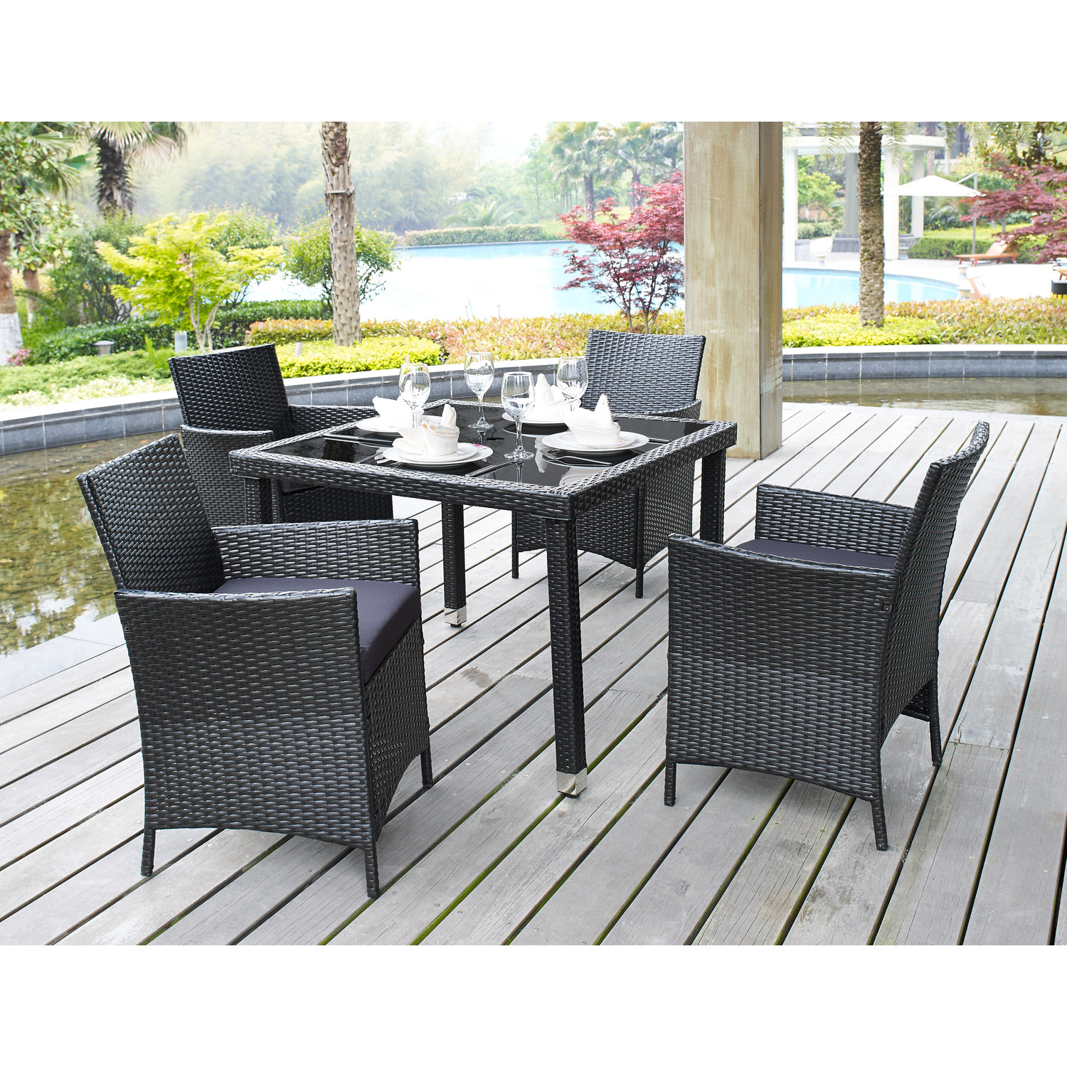 Places to go for affordable modern outdoor furniture for Outside table and chairs