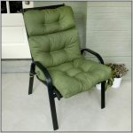 simple black metal walmart patio chair idea with green tufted bolster