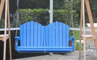 simple blue recycled milk jug furniture simple blue lumber plastic swings lounge patio furniture green yard wooden swings frame