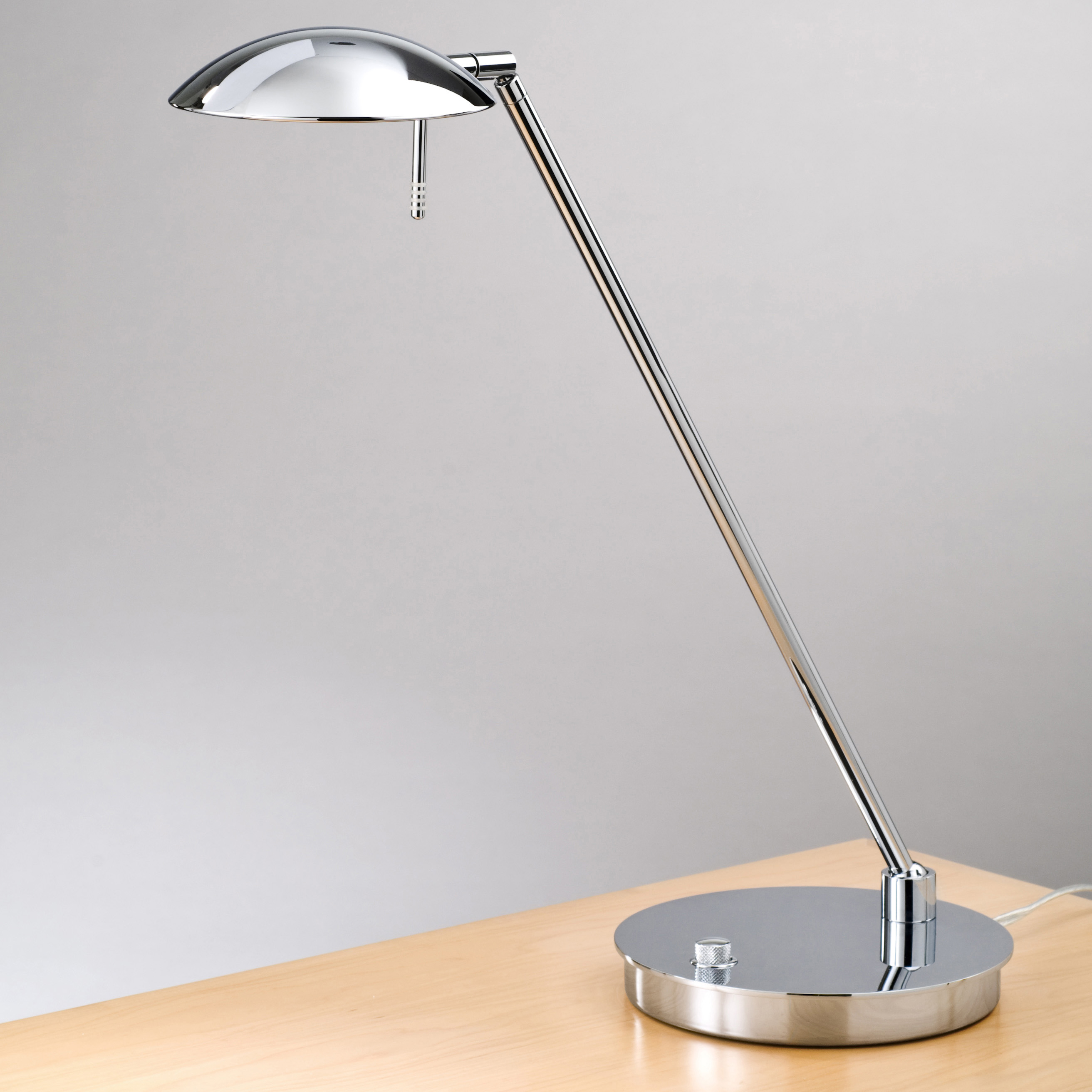 Simple Bronze Stainless Steel Reading Light For Books Design With Round  Base And Straight Suspension And