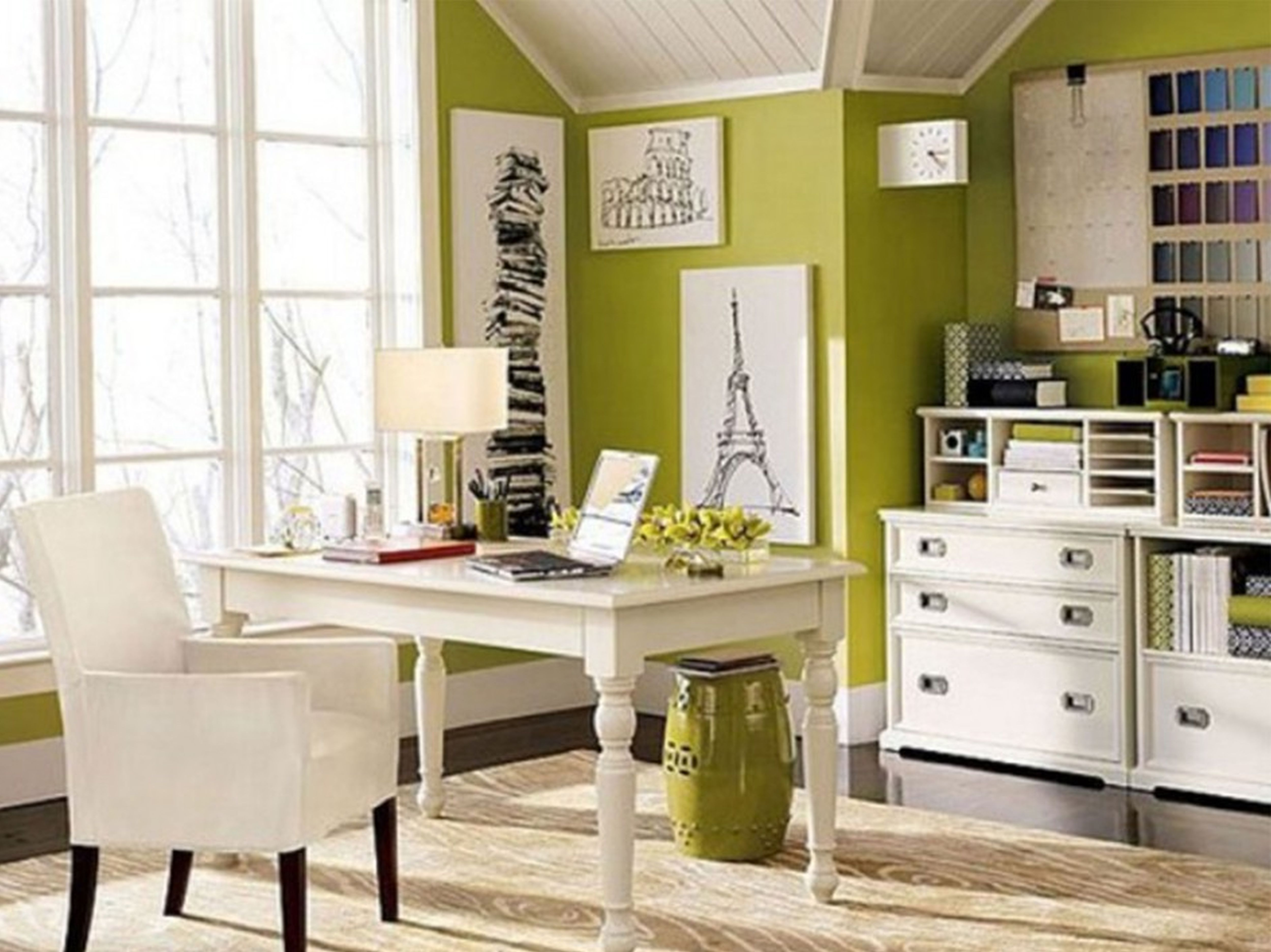 Simple Clic White Wooden Lateral Decorative Filing Cabinets Modern Green Room Elegant Furniture