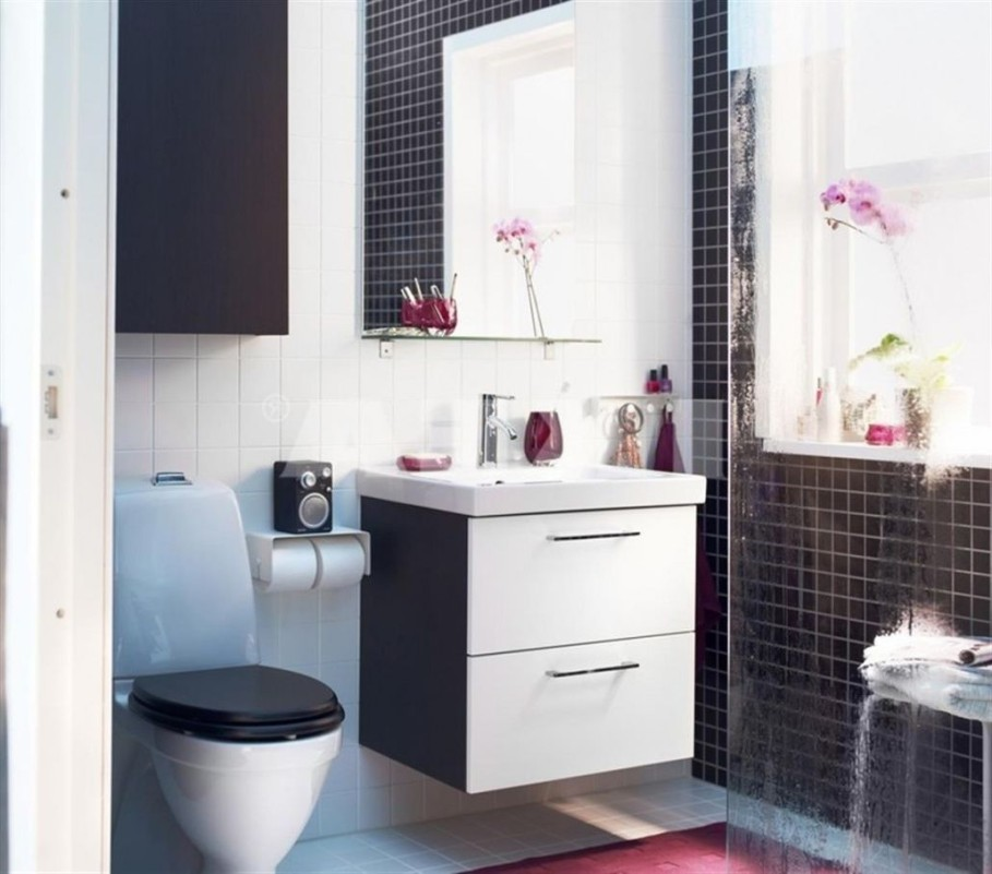 Ikea bath cabinet invades every bathroom with dignity homesfeed - Ikea bathroom tiles ...