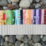 simple long colored pencil holder design with sack modern with patterned accent decoration