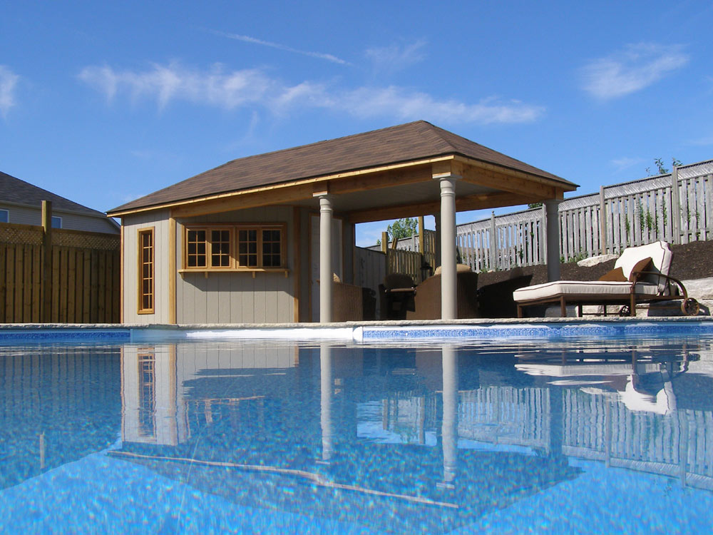 Pool cabana plans that are perfect for relaxing and for Simple houses design with swimming pool