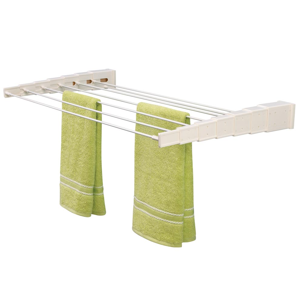 Ikea clothes drying rack best solution for narrow laundry - Etendoir a linge mural retractable ...