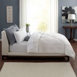 simple white comforter modern bed white and grey hardwood floor curtain contemporary rug