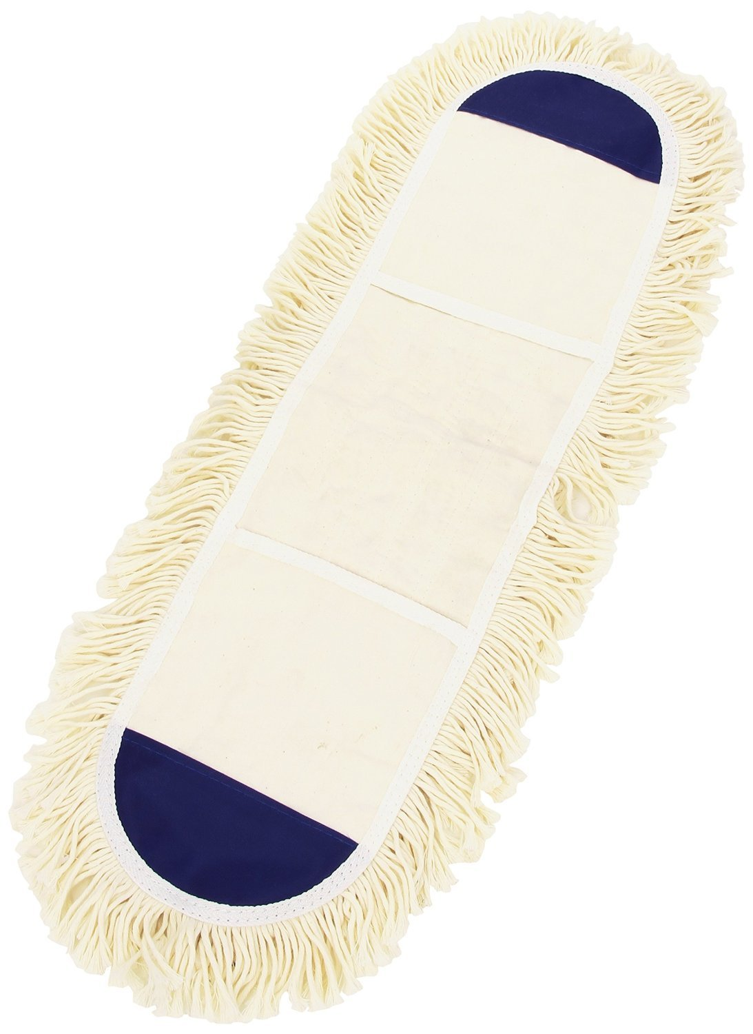 Dust mop for wood floors - Simple White Dust Mop For Wood Floor With No Stick And Navy Blue Accent On The