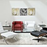 Simple White Living Room Black And White Recliners For Living Room Red White Club Chairs Soft Color Carpet Flower Wall Paintings Metal Accent Tables Simple With Table Lamps