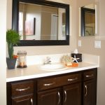 sink bathroom cabinet candle mirror
