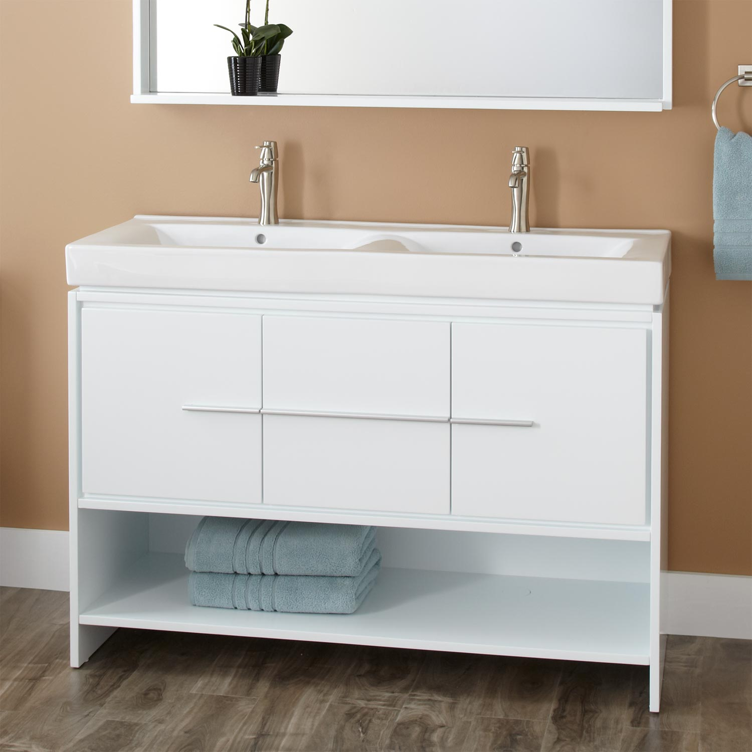 Bathroom sink with cabinet homesfeed for Bathroom washbasin cabinet