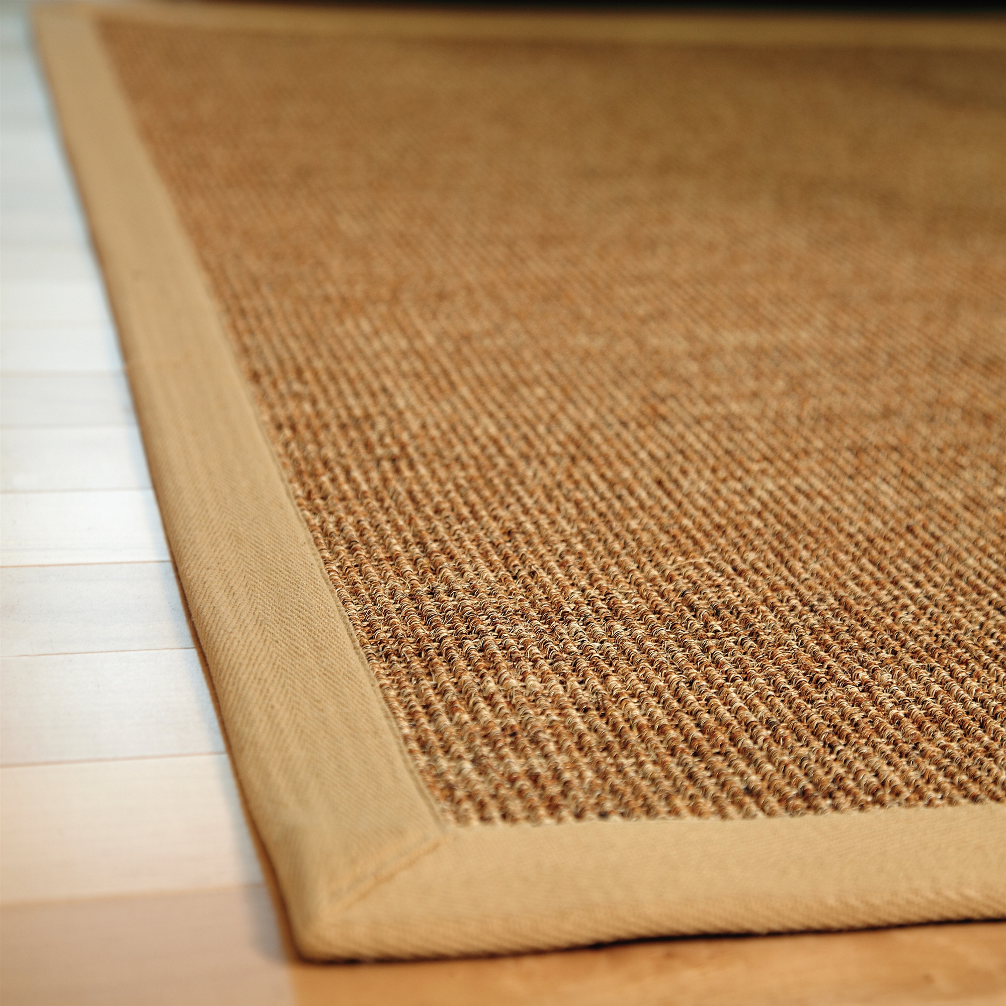 Sisal Rug Ikea Close Up Natural Color Wooden Floor