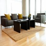 sisal rug ikea simple modern living room wooden tables grey sofas grey yellow cushions decorative flower