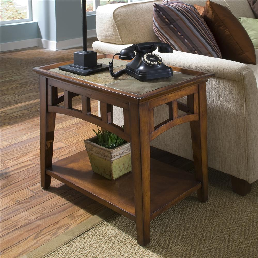 Slate End Tables In Combination With Wood Plus Rack Underneath Decorated  Aside With Sofa Plus Wooden