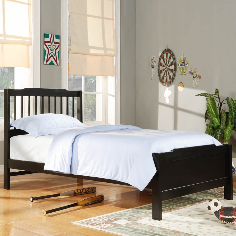Twin headboard for decorative and practical values homesfeed for Twin size childrens bed frames