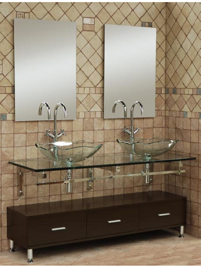 With contemporary vanities for small bathrooms plus tiny sink vanity - Small Bathroom Vanities With Vessel Sinks In Modern Design With Glass Mount Shelf And Stylish Sink