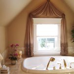 small cottage window curtain for small bathroom windows luxurious bathroom with beautiful pink flower and warm candles
