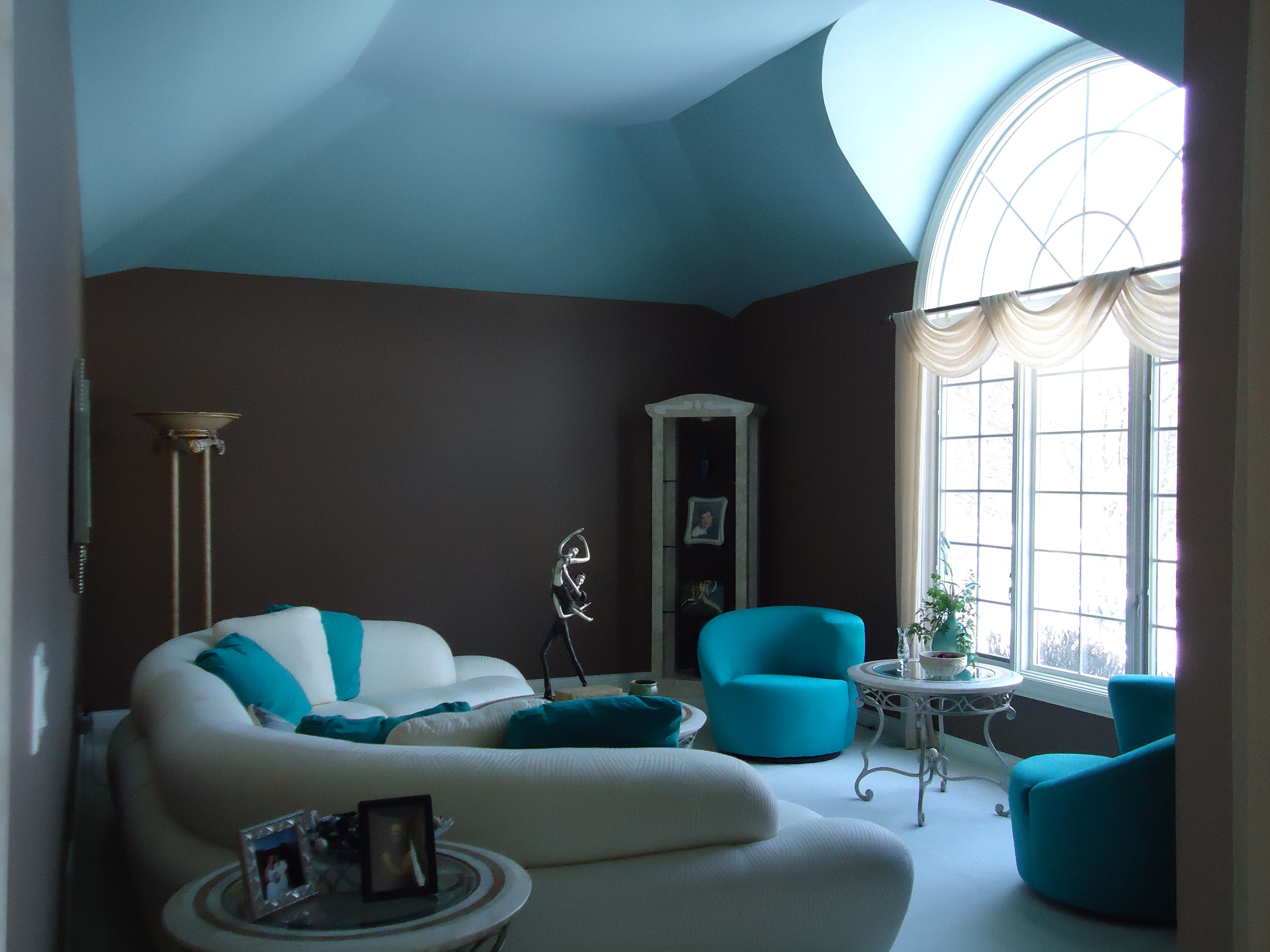 Turquoise Living Room Design – HomesFeed
