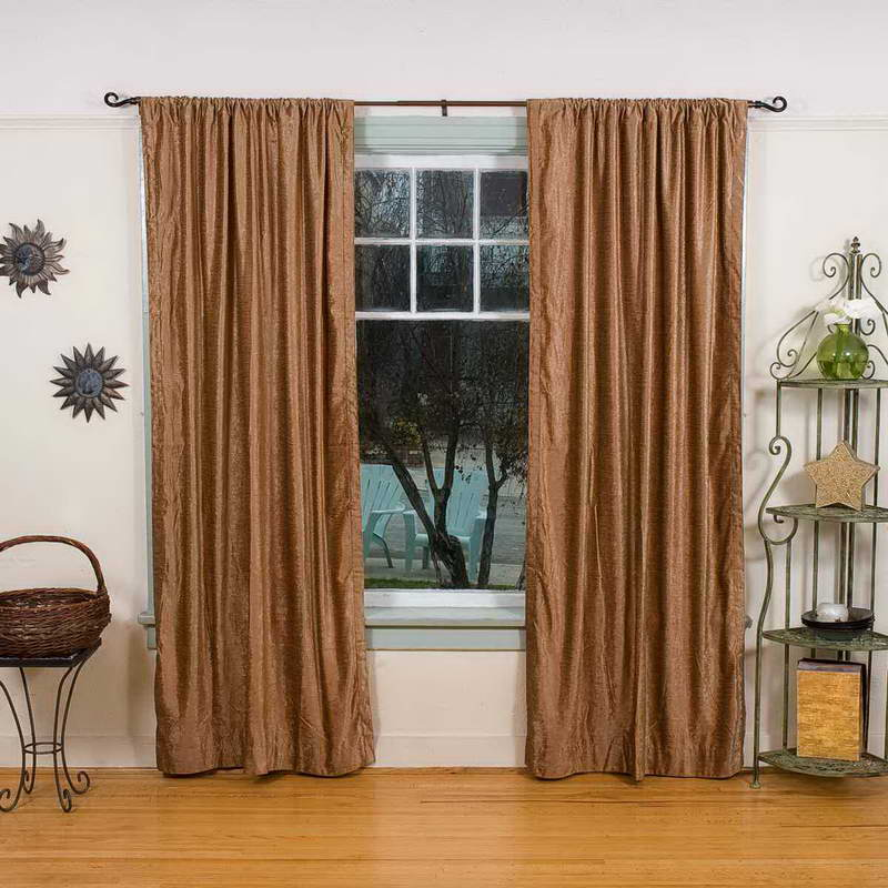Sound Reducing Curtains With Iron Shelves For Decorative Elemeny And Metal Table Basket Laminate