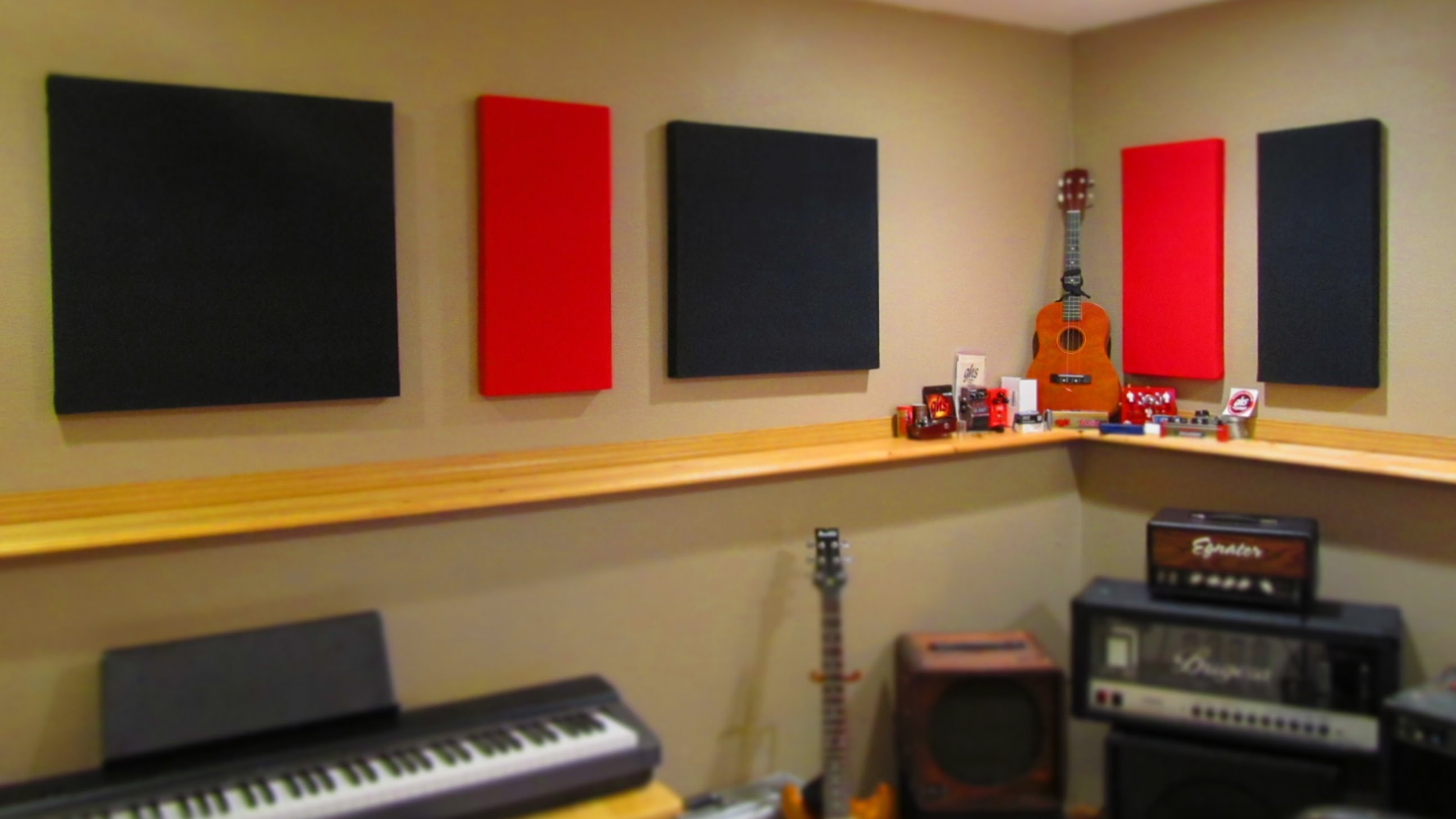 soundproofing an apartment soundproofing musical room with black red