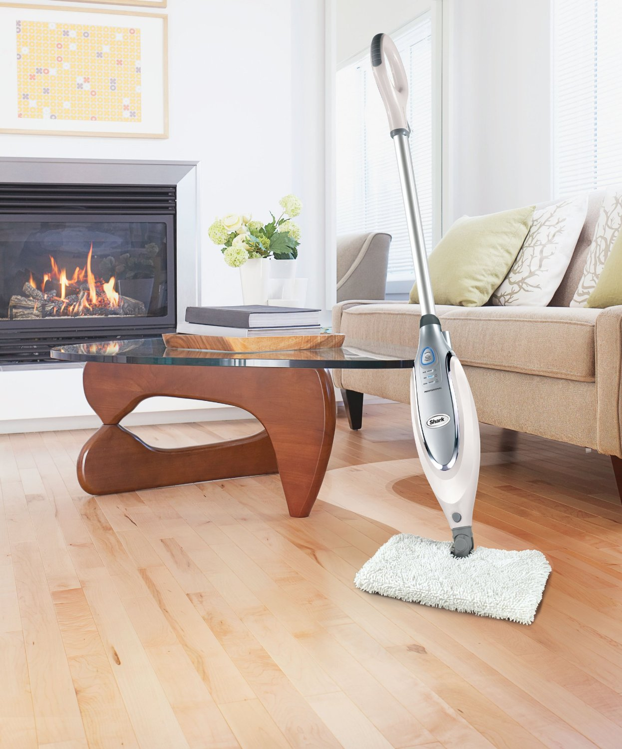 Best floor cleaner for wood floors - Spacious And Elegant Living Room Design With Fireplace And Cream Sofa And Glass Coffee Table With