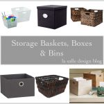storage baskets boxes bins