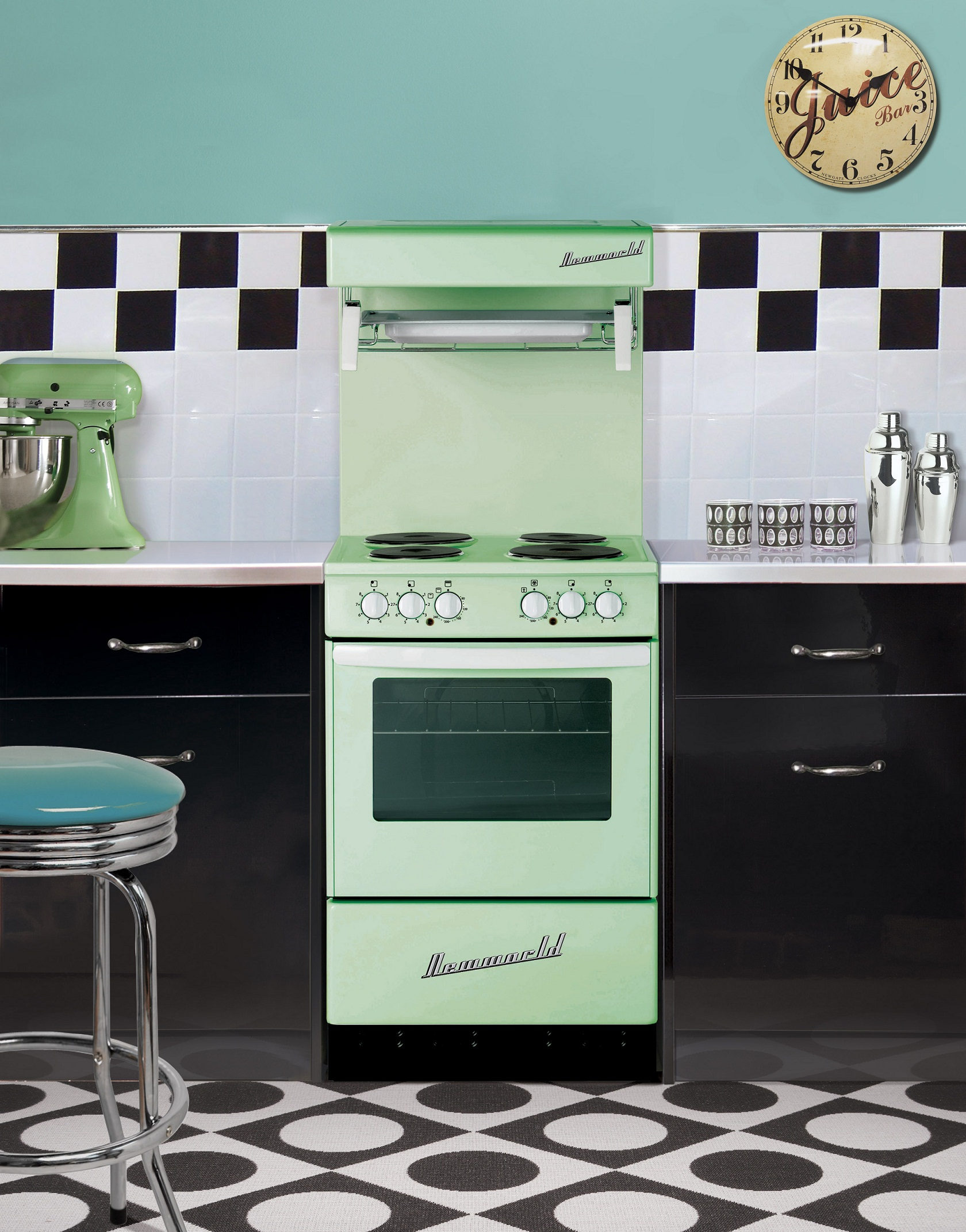 Vintage Style Kitchen Rugs And Why I Didn T Go Actual: Invade Your Home Interior With Retro Style Appliance For