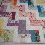 Stunning Modern Abby Quilt To Make Idea With Chevron Pattern Made Of Colorful Smooth Cloth In Rectangle Shape