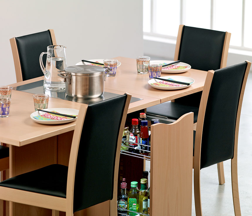 Space saver dining set to create accessible dining space for Space saving dining table