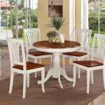 stunning tropical dining room with round kitchen table set for 4 design with white chairs and brown bolster and gray area rug and open plan and potted plants