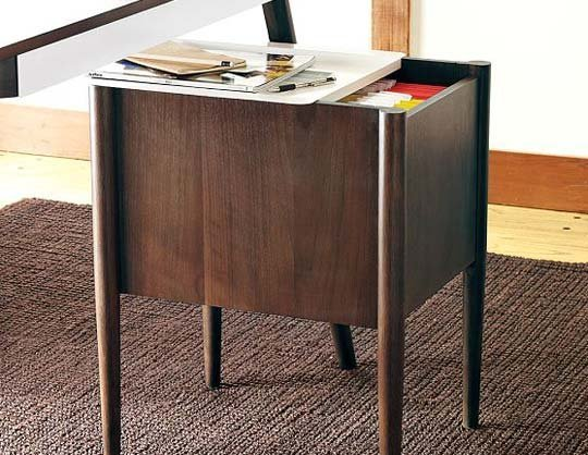 stylish wooden pratt filing cabinet from west elm brown rug office room