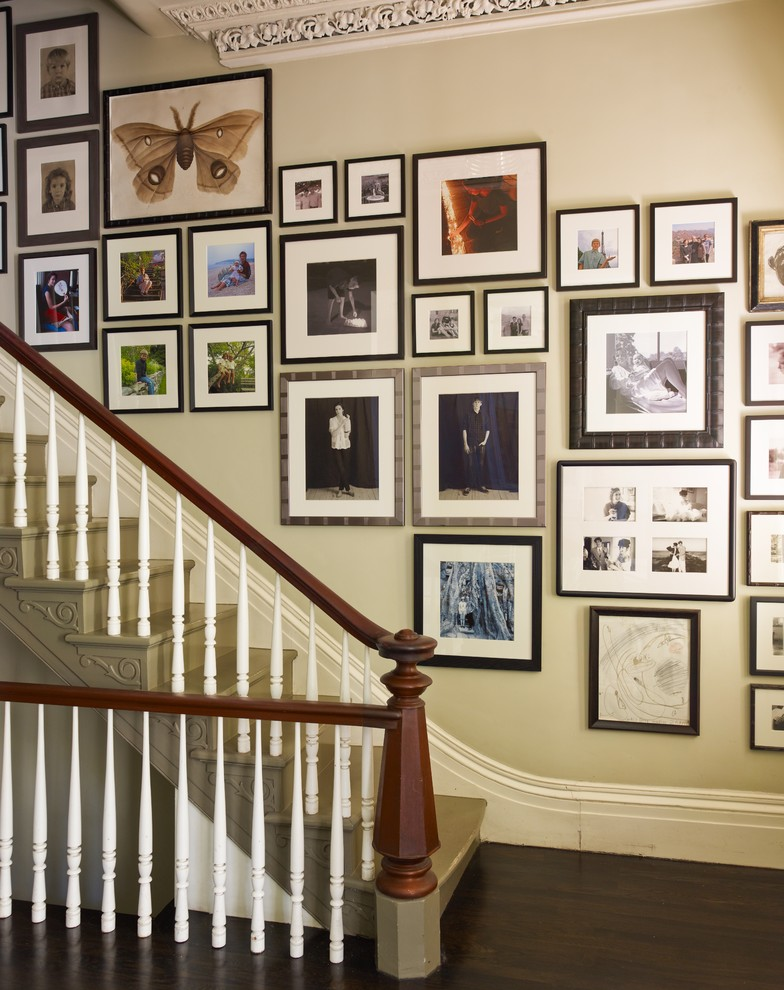 super hit picture frame target design on creamy wall aside staircase with brown railing and white