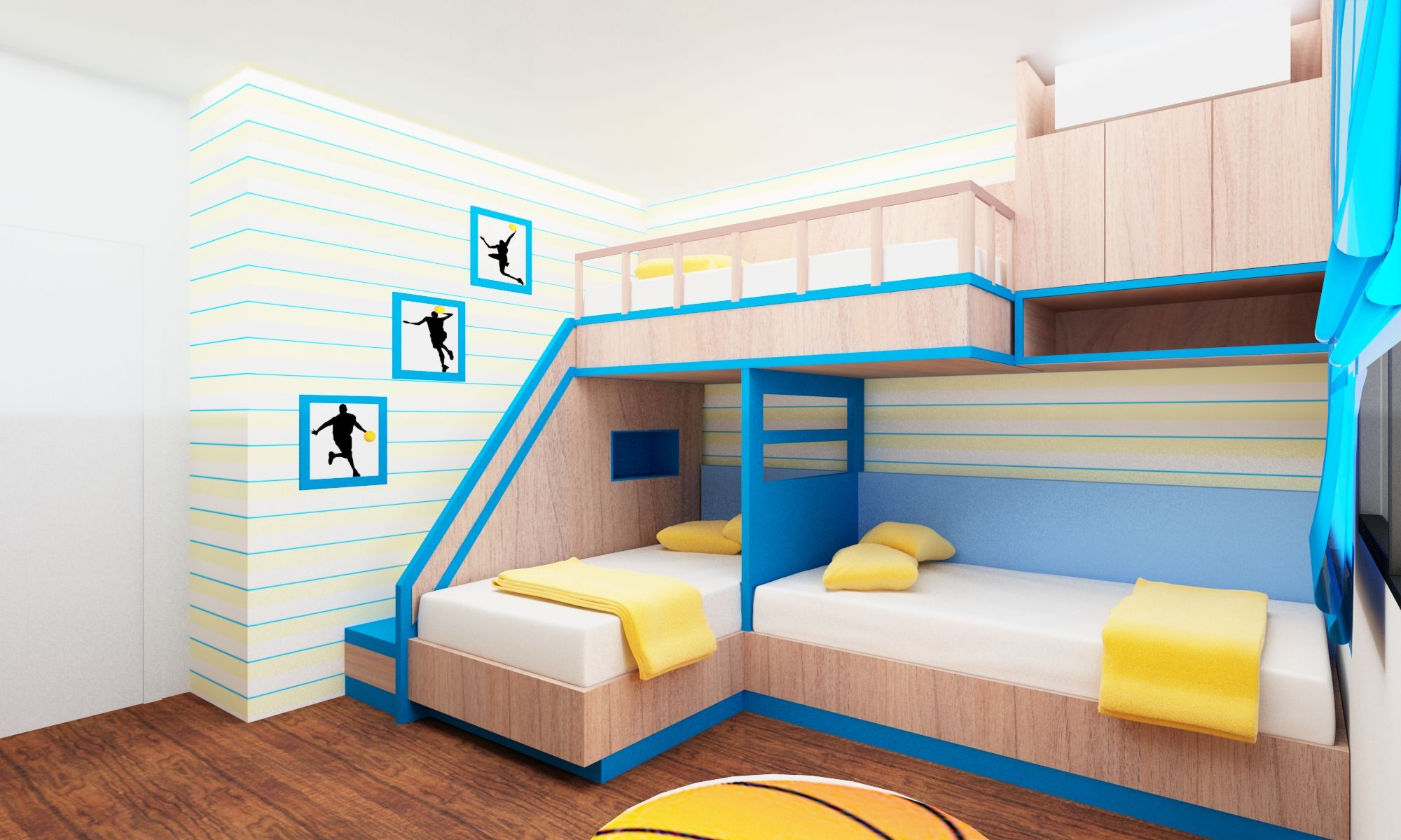 Bunk bed for small space chasing the feeling of intallation homesfeed - Ideas for beds in small spaces model ...