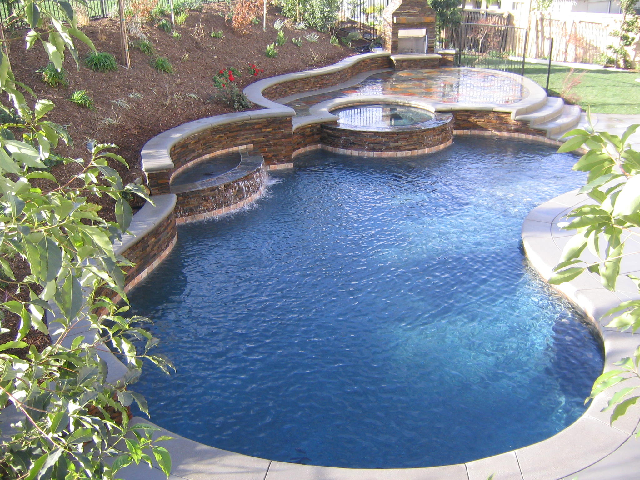Swim Pool Designs award winning pools Swimming Pool Waterfall Rocks