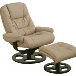 swivel high end recliners in ivory sheme with foot stool and adjustable design