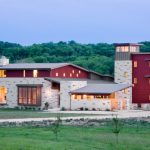 texas hill country house plans with stunning wall anf glass window plus porches