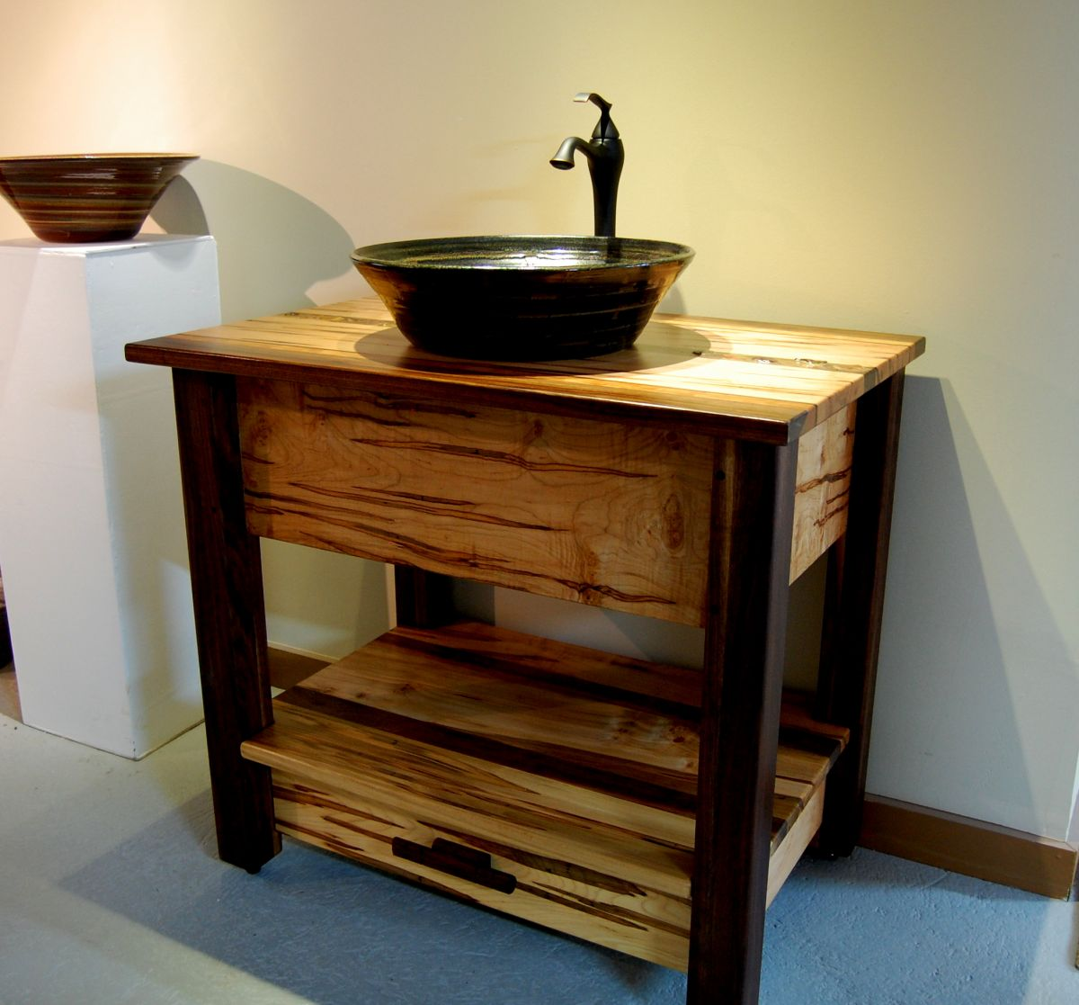 traditional small bathroom vanities with vessel sinks made of solid wooden  with rack underneath plus cool. Small Bathroom Vanities With Vessel Sinks to Create Cool and