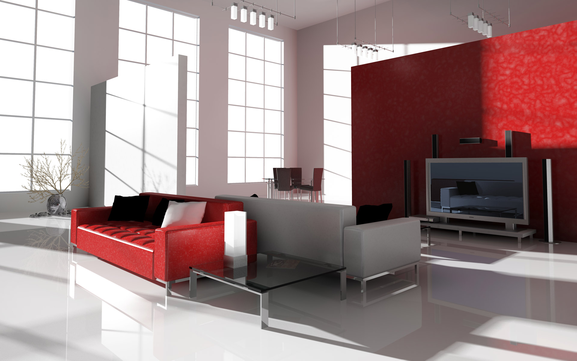 Living Room Modern Home Interior luxury modern interior home homesfeed tv sofas pillows rug designing your interior