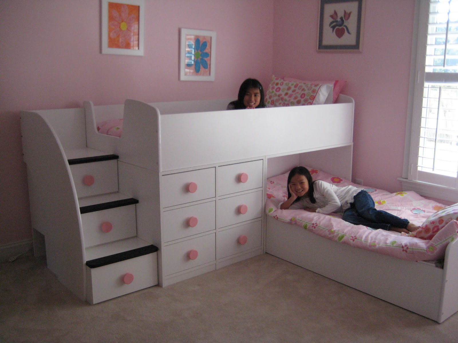 Contemporary children twin beds with storage homesfeed for Organizers for kids rooms