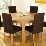 two contrast tone dining room color light natural color round dining room table for 6 set light and bold brown simple classic chairs light natural color wooden floor
