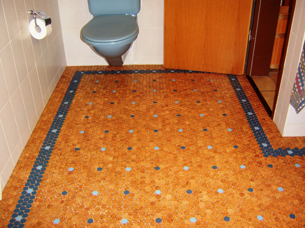 Eco friendly cork flooring in bathroom homesfeed for Sustainable cork flooring